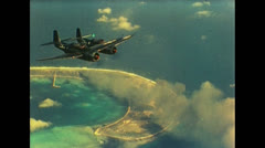 WW2 - US planes Over Pacific 01 Stock Footage