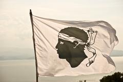 corsica flag - stock photo