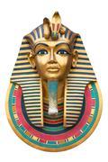 Face of a pharaoh Stock Photos