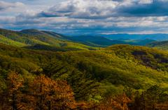 Evening view of the appalachian mountains from skyline drive in shenandoah na Stock Photos