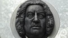Stock Video Footage of Composer Johann Sebastian Bach in Ansbach Germany Bavaria Franconia
