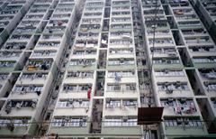 High rise apartment buildings, Hong Kong, China Stock Photos