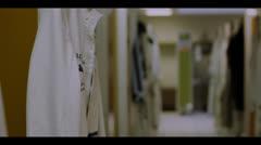 EMPTY JOCKEY DRESSING ROOM Stock Footage