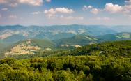Stock Photo of view east of mountains and valleys from spruce knob, west virginia