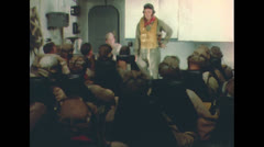 WW2 - Pilots On Carrier In Briefing 01 Stock Footage