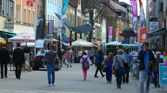 Germany Bavaria Bayreuth commercial shopping area Stock Footage