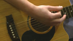 Guitar Playing - stock footage