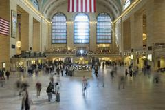A crowd of people in Grand Central Station, New York City, USA Stock Photos
