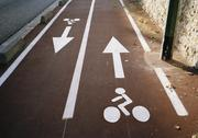 Stock Photo of Bicycle lanes