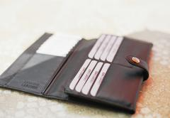 A brand new leather billfold Stock Photos