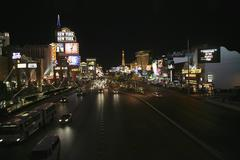 Las Vegas, Nevada, USA, the Las Vegas strip at night Stock Photos