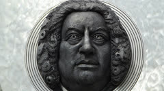 Composer Johann Sebastian Bach in Ansbach Germany Bavaria Franconia Stock Footage