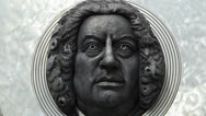 Stock Video Footage of Composer Johann Sebastian Bach in Ansbach Germany Bavaria Franconia