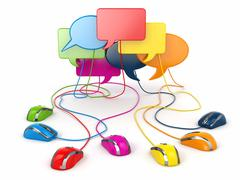 Concept of social network. forum or chat bubble speech. Stock Illustration
