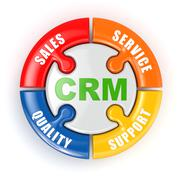 crm. customer relationship marketing  concept. - stock illustration