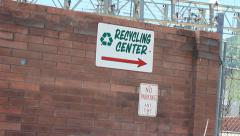 Recycle Center Stock Footage
