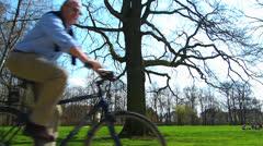 Bayreuth Hofgarten Palace garden park leisure activity Germany Bavaria Stock Footage