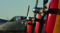 Thunderbolts Lined Up 01 Stock Footage