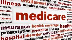 Medicare creative words animation Stock Footage