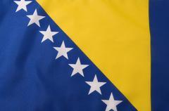 Flag of Bosnia and Herzegovina Stock Photos