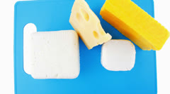 Soft delicious cheeses Stock Footage