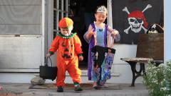 Halloween Trick-or-treat  - stock footage