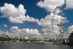 Millennium Wheel next to the Thames River, London, England Stock Photos