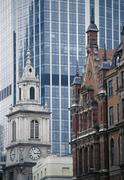 Buildings in business district, London, England Stock Photos