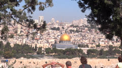 Tourists in jerusalem Stock Footage