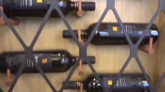 Bottles of wine Stock Footage