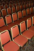 Empty chairs in rows Stock Photos