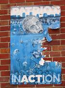 Patriot Inaction - Anti President George Bush Katrina Poster - stock photo