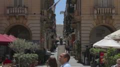 Maltese impressions - La Valleta streets _3 Stock Footage