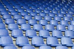 Empty seats in a sports stadium Stock Photos