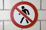 Stock Photo of No Thoroughfare' sign