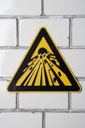 Stock Photo of Explosive' warning sign