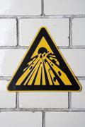 Explosive' warning sign Stock Photos
