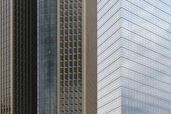 Skyscrapers in frankfurt Stock Photos