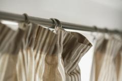 Striped curtains Stock Photos