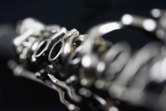Detail of a clarinet Stock Photos