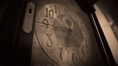 Timeless Clock | Vintage Grandfather Clock (Horror Feel) - stock footage