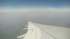 View from the cabin of passenger aircraft - turning in the air Stock Footage