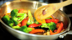 Healthy Lifestyle Option Stir Fry Meal Stock Footage