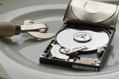 Broken hard drive Stock Photos