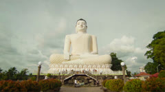 Big buddha at bentota, sri lanka Stock Footage