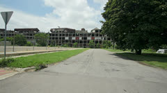 Drive by  Detroit's urban blight Stock Footage
