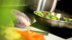 Close Up Colourful Stir Fry Vegetables - stock footage