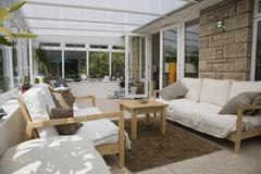 Lounge area of a conservatory Stock Photos