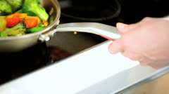 Appetizing Assorted Organic Vegetable Stir Fry Meal Stock Footage