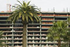 Palm trees in front of high rise building development, Las Vegas, Nevada Kuvituskuvat